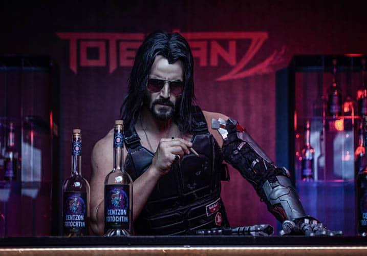 Cyberpunk 2077 - Johnny Silverhand in a bar