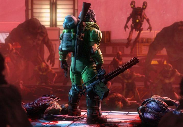Doom Slayer in full battle gear