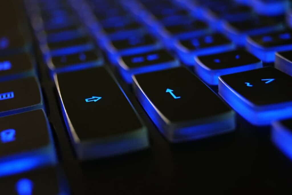 Blue gaming keyboard