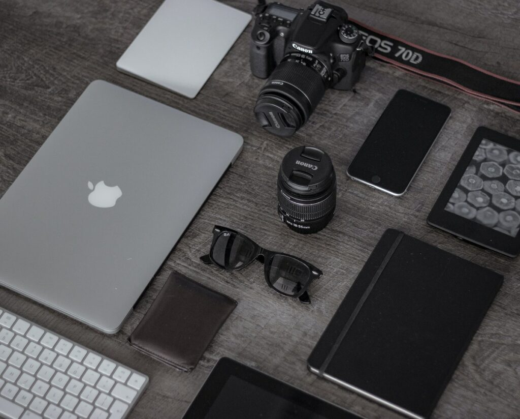 gadgets on the table